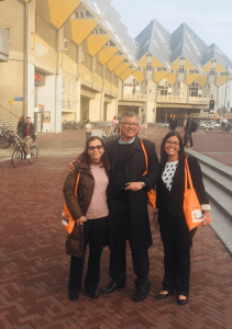 Profa. Carmen, Prof. Egberto e Profa. Isis no congresso DOHaD, Holanda, 2017